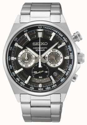 Seiko Heren chronograaf horloge zwarte wijzerplaat SSB397P1