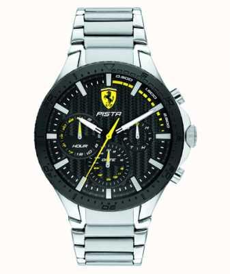 Scuderia Ferrari | pista dubbele baan | zwarte getextureerde wijzerplaat | 0830854