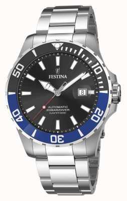 Festina Automatisch herenhorloge van 44 mm met zwarte wijzerplaat F20531/6
