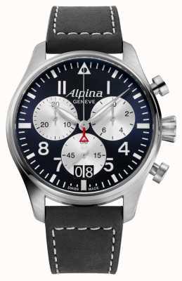 Alpina Startimer pilot quartz chronograaf AL-372NS4S6
