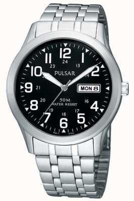 Pulsar Gents roestvrijstalen analoge armband horloge PXN181X1