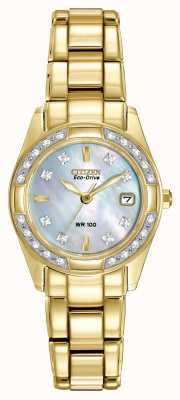Citizen Ladies regent 28 diamanten EW1822-52D