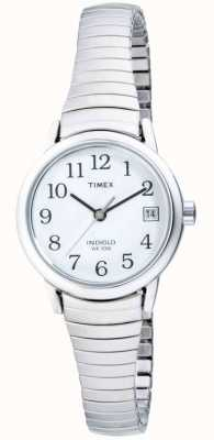 Timex Dames roestvrij staal uitbreidbaar horloge T2H371